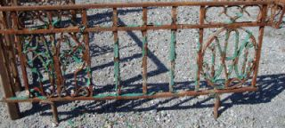Antique Wrought Iron Fencing Railing 18 tall