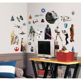 31 New CLASSIC STAR WARS WALL DECALS Movie Stickers Decorations