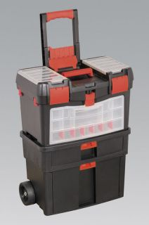 SEALEY AP850 MOBILE TOOL CHEST WITH TOTE TRAY & REMOVABLE ASSORTMENT