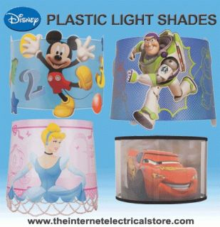 Disney LED Plastic Lampshades Mickey Mouse, Cars, Princess, Toy Story
