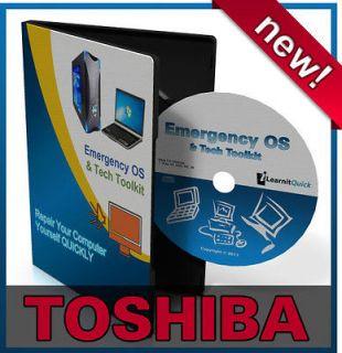 Toshiba Satellite Laptop Repair Recovery Drivers Install Restore