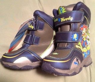 TOY STORY SNOW BOOTS BUZZ LIGHT YEAR WOODY LIGHT UP WINTER NWT TODDLER