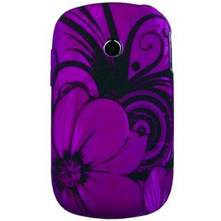 New For LG 800G designer Purple floral rubberized cell phone cover