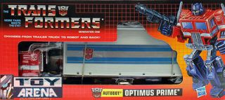 Transformers G1 Reissue Optimus Prime with Trailer 66843 Hasbro