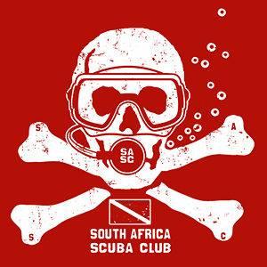 Africa T SHIRT flag dive diving mask shark tank fins skull diver T