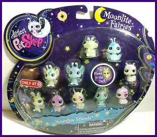 Newly listed Littlest Pet Shop MOONLITE FAIRIES MOONGLOW FRIENDS SET