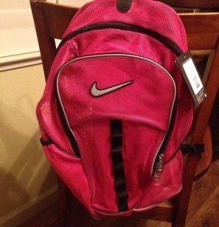 NWT NIKE Brasilia 4 Large PINK Mesh Backpack Gym Bag Swoosh