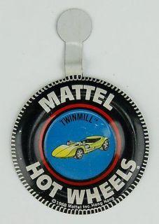869 Original 1968 Hot Wheels Pin Badge for Twinmill Redline Car