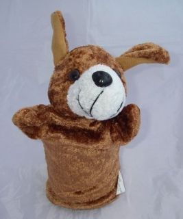 Dollar Tree Plush Brown Bunny Puppy Dog Hand PUPPET Toy