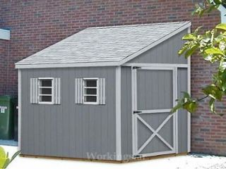 x12 Slant / Lean To Style Shed Plans, See Samples