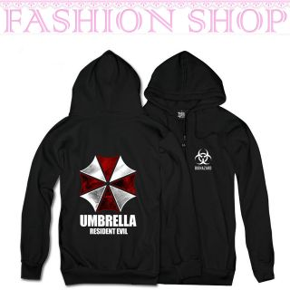 Men Resident Evil Biohazard Umbrella Long Sleeve Cosplay Costume Coat