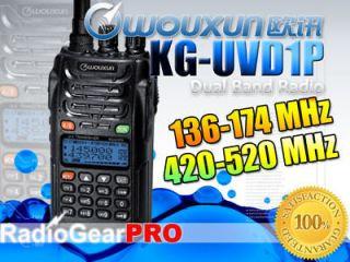 UVD1P 136 174/420 520Mhz New 2 way Dual Band Radio VHF UHF transceiver