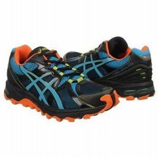 Asics Mens GEL Scout Black Blue Orange Athletics Running Shoes