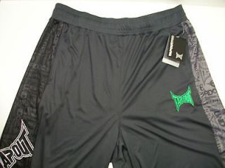 35 NWT Tapout Pro Athletic Shorts Fitness MMA UFC Logo Gravel Black
