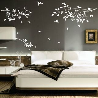 Large Tree Branches Birds Art Wall Stickers/Wall Decals