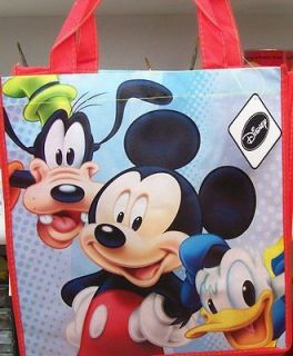 DISNEY MICKEY MOUSE GOOFY & DONALD DUCK 13 X 13 SHOPPING TOTE BAG