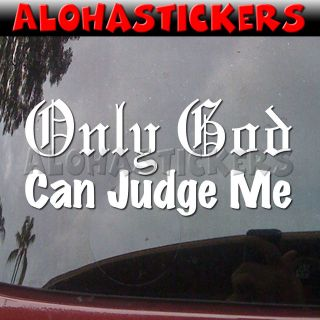 JUDGE ME Old English Car Truck Moped Vinyl Decal Window Sticker R93