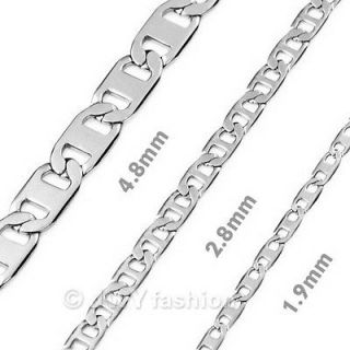 mens silver necklace chain in Mens Jewelry