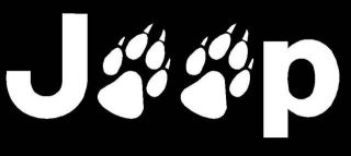 JEEP WOLF Paws Tracks Car Window WALL Laptop Vinyl DECAL Sticker YOU