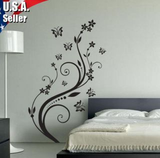 wall decal white flower