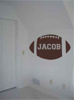 Huge Football Custom Name Wall Decal Kids Sports Decor