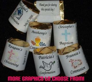 Baptism ~ Christening ~ Nugget Candy Bar Wrappers Labels Favors