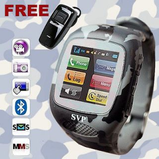 GSM Watch Cell Phone Army Camouflage Edition//Camera/Touch Screen