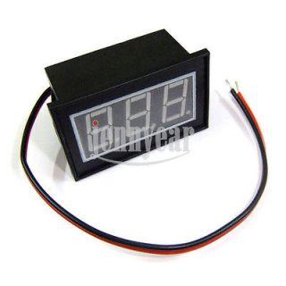 ... Waterproof Digital Voltmeter DC 4.5 30V Red LED 12V 24V Car Motor ...