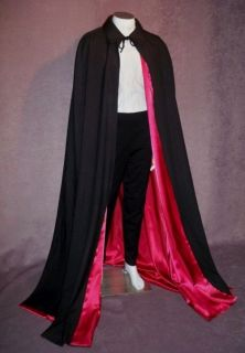 Floor Length Cape Mens size S to XL Red White Wine Gold Blue Green