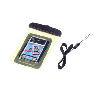 Yellow Transparent Waterproof Case Bag Armband for iPod Touch iPhone