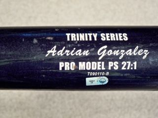 Gonzalez Los Angeles Dodgers Game Used Bat MLB Authentic (9/19/12