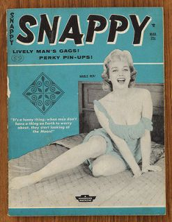 SNAPPY HUMORAMA BILL WARD BETTIE PAGE MARCH 1960