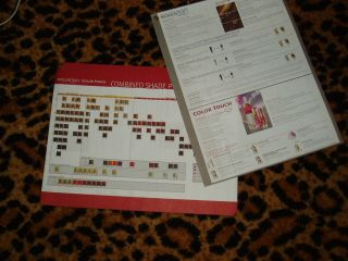 WELLA koleston COLOR TOUCH SWATCH HAIR COLOR paper CHART sheet
