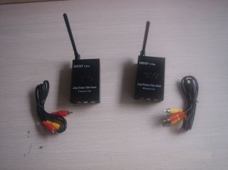 2W 2.4Ghz Wireless Video Audio Transmitter Receiver Kit for Recorder
