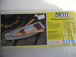 Products~The SKIFF Boat ~All Wood Display Model Kit ~ NEW SEALED