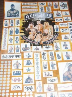 NEW 60 WWE WRESTLING TATTOOS PARTY FAVORS GAME SUPPLIES