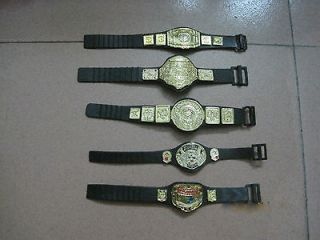 5pcs/LOT WWE WWF Wrestling Figures Belt Rare Accessories Loose