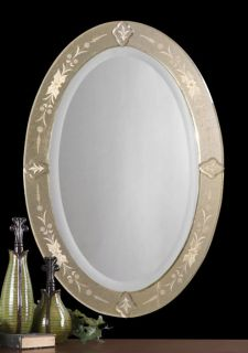 Antique d Silver VENETIAN WALL MIRROR Mantle Mantel Vanity Bath