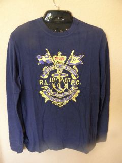 Ralph Lauren Polo Bear long sleeve tee, top, shirt size LARGE NAVY