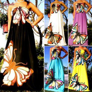 Angela NEW Butterfly Strapless Evening/Summer Women Long Maxi dress