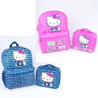 NWT OLD NAVY GIRLS BACKPACK LUNCH BOX BAG SET HELLO KITTY