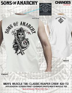 NEW 2012 SONS OF ANARCHY CLASSIC REAPER CREW MUSCLE TEE SOA BIKER
