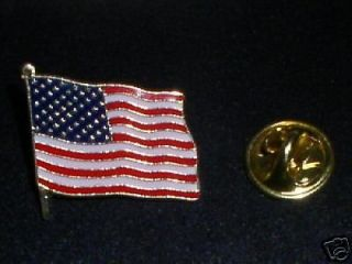 AMERICAN FLAG LAPEL PINS   5 QUALITY JEWELRY ITEMS