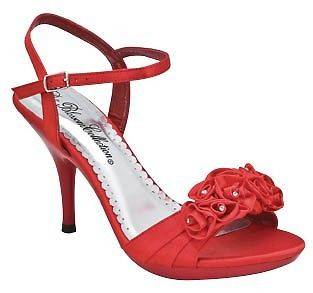 Blossom Sexy Prom dress Open toe sandal Red LIN 35