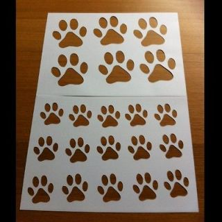 Dog Paw Print Stencils Art / cake decorating BN