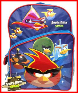 ANGRY BIRDS SPACE BLUE BACKPACK 16 LARGE SCHOOL BAG LICENSED ROVIO