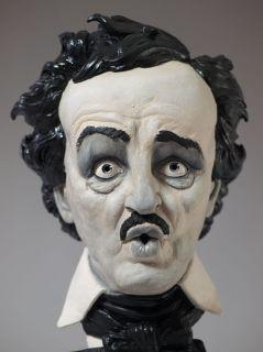 Edgar Allan Poe Boo Bust Resin Garage Model Kit by Tim Bruckner
