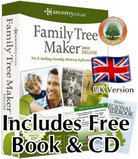 Family Tree Maker 2012 UK Deluxe Edition + Free Regional Guidebook