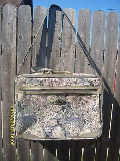 American Tourister Soft Side Tapestry Luggage Suitcase Olive Green