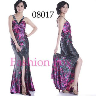 Sexy Split Black Evening Dress Party Gown Prom Dress Long Maxi Dress
